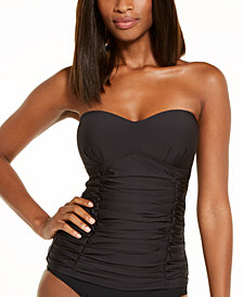 DKNY Removable Strap Tankini Swimsuit Top