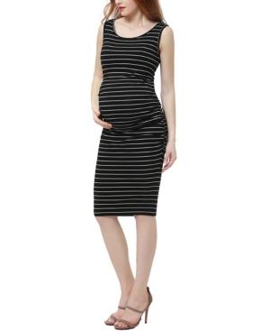 Kimi + Kai Delia Maternity Ruched Midi Dress