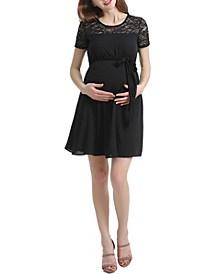 Delia Maternity Ruched Midi Dress