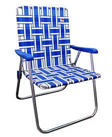 Classic Aluminum Webbed Folding Lawn, Camp Chair, 2-Pack