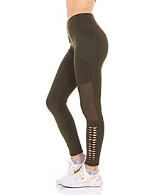 Side Cutout and Side Pocket High Rise Leggings