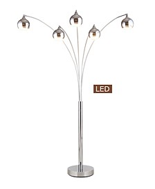 "Amore 86"" LED Arched Floor Lamp with Dimmer, 5000 Lumens"
