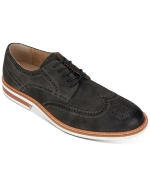 Unlisted Kenneth Cole  Men's Jimmie Wingtip Oxfords Men's Shoes In Charcoal