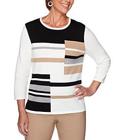 Petite Classics Colorblocked Sweater