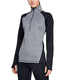 Women's ColdGear® Colorblocked Half-Zip Training Top