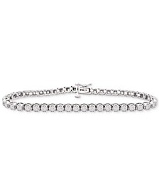 Diamond Link Tennis Bracelet (1 ct. t.w.) in Sterling Silver, Created for Macy's