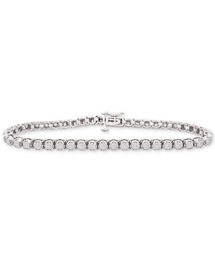 Wrapped in Love - Diamond Link Tennis Bracelet (1 ct. t.w.) in Sterling Silver