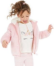 Little Girls Unicorn Horn Long Sleeve T-Shirt, Created For Macy's