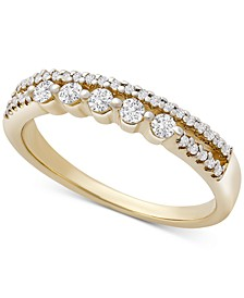 Diamond Double Row Band (1/3 ct. t.w.), Created for Macy's