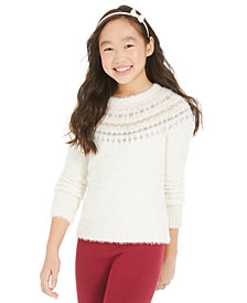 Epic Threads Big Girls Fair Isle Sweater, Created For Macy's