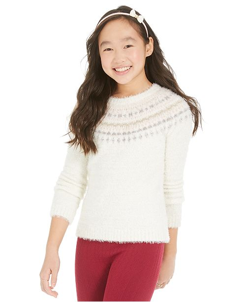 Epic Threads Big Girls Fair Isle Sweater, Created For Macy's
