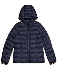 Women's Quilted Jacket with Magnetic Zipper