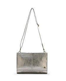 Women's Iris Leather Crossbody Clutch