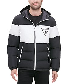 Men's Colorblock Hooded Puffer Jacket