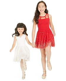 Toddler, Little & Big Girls Metallic Star-Print Tulle Dress, Created For Macy's
