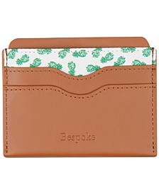 Men's Leather & Pineapple Print Card Case