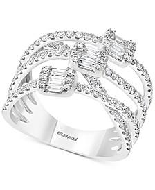 EFFY® Diamond Split Band Ring (1 ct. t.w.) in 14k White Gold
