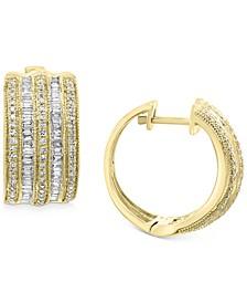 EFFY® Diamond Hoop Earrings (3/4 ct. t.w.) in 14k Yellow or White Gold
