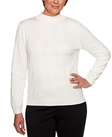 Petite Classics Textured Mock-Neck Sweater
