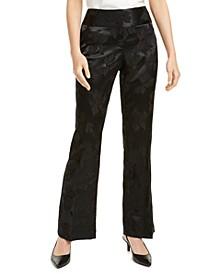 Tummy-Control Jacquard Pants, Created For Macy's