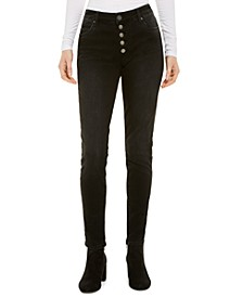 Mia High-Waisted Button-Fly Skinny Jeans