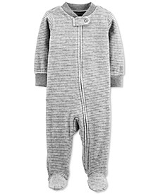 Baby Boys & Girls Striped Velour Footed Coverall