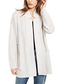 Notched-Collar Cardigan, Regular & Petite