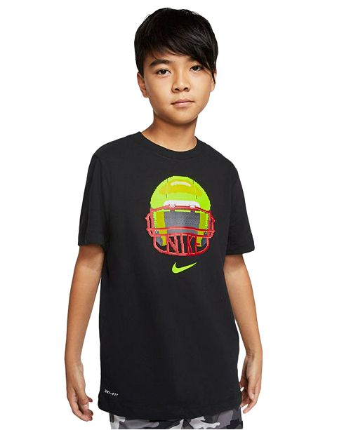 Nike Big Boys Dri-FIT Football Helmet Graphic T-Shirt