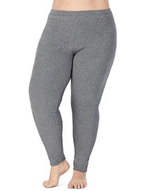 Plus Size Fleecewear With Stretch Leggings
