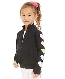 Little Girls Heart-Sleeve Active Jacket, Created For Macy's