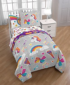 JoJo Rainbow Sparkle 8-Pc. Full Comforter Set