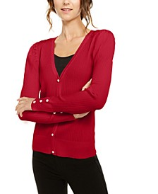 INC Petite Puff-Sleeve Cardigan, Created For Macy's