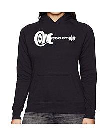 LA Pop Art Women's Word Art Hooded Sweatshirt -Come Together