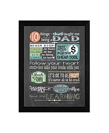 """Reminders from Dad By Tonya Crawford, Printed Wall Art, Ready to hang, Black Frame, 14"""" x 18"""""""