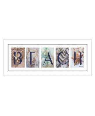 "Beach By Robin-Lee Vieira, Printed Wall Art, Ready to hang, White Frame, 20"" x 8"""