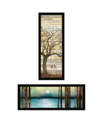 """I met You/Living your Dreams 2-Piece Vignette by Marla Rae, Black Frame, 15"""" x 39"""""""