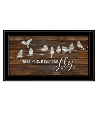 """Spread Your Wings and Fly by Marla Rae, Ready to hang Framed Print, Black Frame, 27"""" x 15"""""""