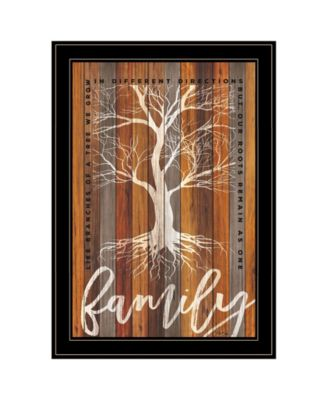 """Family Roots by Marla Rae, Ready to hang Framed Print, Black Frame, 15"""" x 21"""""""
