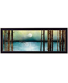 """Love You to the Moon and Back by Marla Rae, Ready to hang Framed Print, Black Frame, 39"""" x 15"""""""