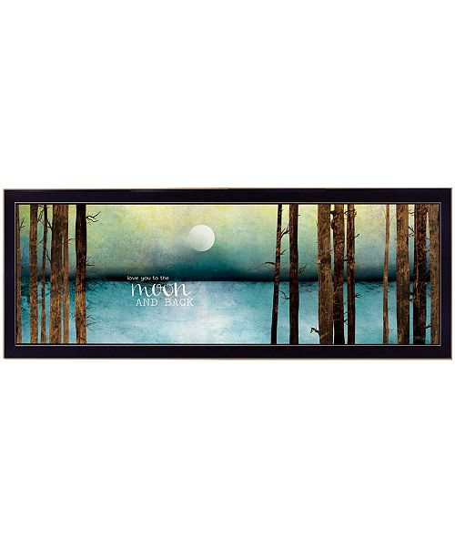 """Trendy Decor 4U Trendy Decor 4U Love You to the Moon and Back by Marla Rae, Ready to hang Framed Print, Black Frame, 39"""" x 15"""""""