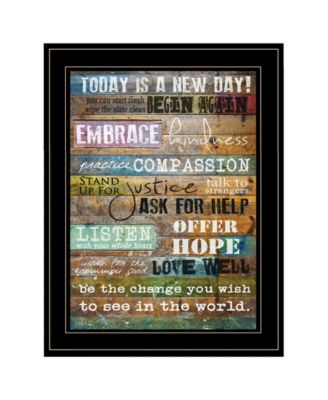 """Today Is by Marla Rae, Ready to hang Framed Print, Black Frame, 15"""" x 19"""""""