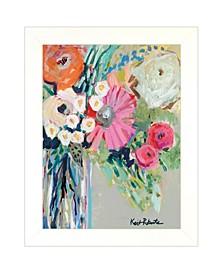 "Trendy Decor 4U From Mrs. Hazel's Garden by Kait Roberts, Ready to hang Framed Print, White Frame, 15"" x 19"""