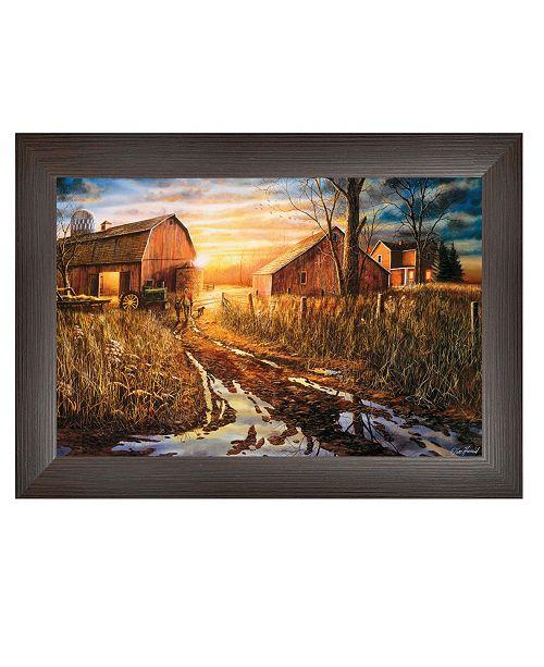 "Trendy Decor 4U Trendy Decor 4U Days Not Forgotten By Jim Hansen, Printed Wall Art, Ready to hang, Brown Frame, 21"" x 15"""