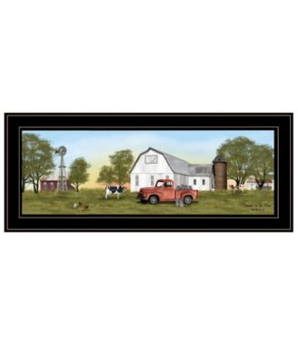 """Summer on the Farm by Billy Jacobs, Ready to hang Framed Print, Black Frame, 39"""" x 15"""""""