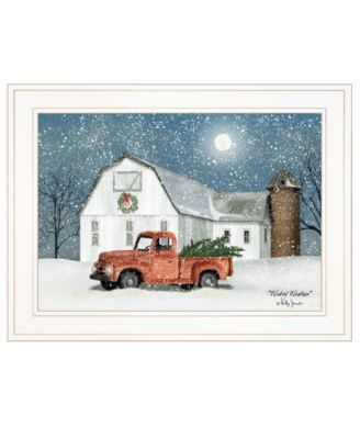 """Wintry Weather by Billy Jacobs, Ready to hang Framed Print, White Frame, 19"""" x 15"""""""