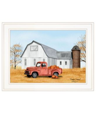 """Pumpkin Harvest by Billy Jacobs, Ready to hang Framed Print, White Frame, 19"""" x 15"""""""