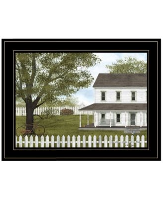 Green, Green Grass of Home by Billy Jacobs, Ready to hang Framed Print, Black Frame, 27