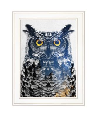 """Night Owl by andreas Lie, Ready to hang Framed Print, White Frame, 15"""" x 19"""""""
