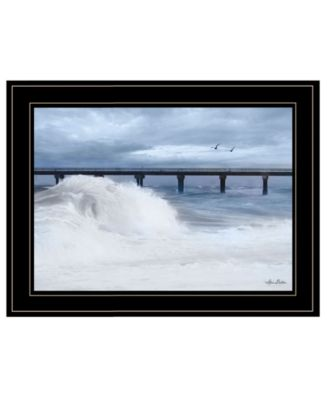 "Blue Waves by Lori Deiter, Ready to hang Framed Print, Black Frame, 21"" x 15"""