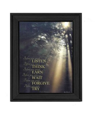 """Before You By Lori Deiter, Printed Wall Art, Ready to hang, Black Frame, 21"""" x 27"""""""